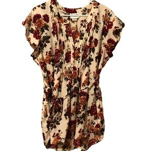 Oh! Mamma Pink Antique Floral Top Size XL
